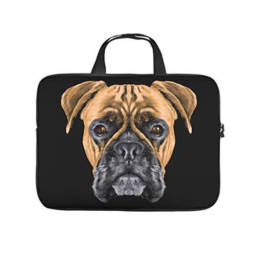 Bolsa para ordenador portátil resistente al agua con diseño de animales de perro, para trabajo, negocios