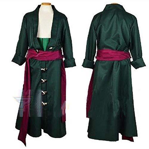One Piece Roronoa Zoro Cosplay disfraz ropa conjunto completo hecho a medida