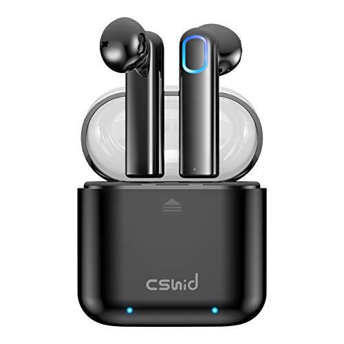 Bluetooth Kopfhörer, Cshidworld Kabellose Kopfhörer mit Bluetooth 5.0 TWS Sport In Ear Kopfhörer Wireless Headset APTX Kopfhörer mit Mikrofon, 35H Spielzeit und Tragbare Ladehülle IP67 Wasserdicht