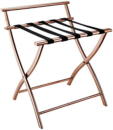 Great Deal! HOMRanger Hotel Luggage Rack Stainless Steel Luggage Rack, Hotel Bedroom Foldable Lugg...