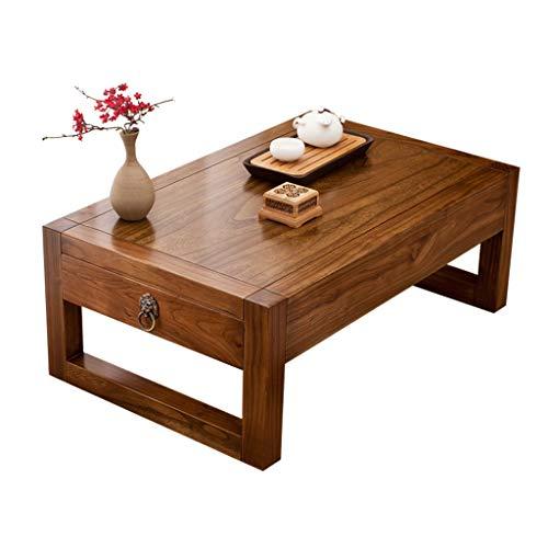 Tables Tatami Basse De Lit Maison en Bois Massif Baie Vitrée Basse Balcon Petite Basse avec Tiroirs Basse Meilleur Cadeau (Color : B, Size : 70 * 45 * 30cm)