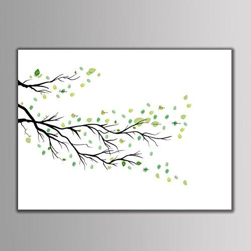 Lienzo de árbol de Huellas Dactilares, 4 Tipos Lienzo de árbol de...