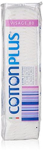Cotton Plus Lot de 80 carrés démaquillants 100% coton