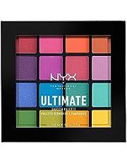 NYX Professional Makeup Ultimate Edit Petite Shadow Palette paleta 16 cieni do powiek o różnym wykończeniu, kolory tęczy, Brights