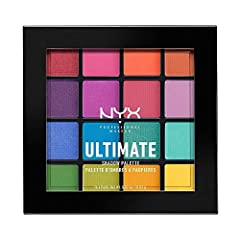 EYESHADOW PALETTE: This professional level makeup palette features 16 highly-pigmented shadows that glide onto lids & make eyes pop with color. Use with NYX PROFESSIONAL MAKEUP eyeshadow primer for bolder, longer-lasting color. ULTIMATE EYE SHADOW: E...
