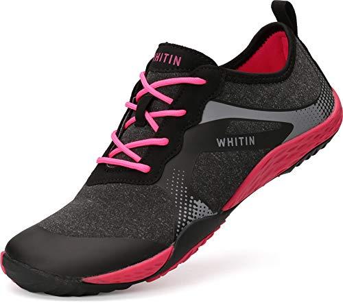 WHITIN Damen Barfussschuhe Traillaufschuh Barfuss Schuhe Barfußschuhe Barfuß Barfußschuh Trekkingschuhe Minimalistische Zehenschuhe Training Laufschuhe für Frauen Sportschuhe Rosa gr 40 EU