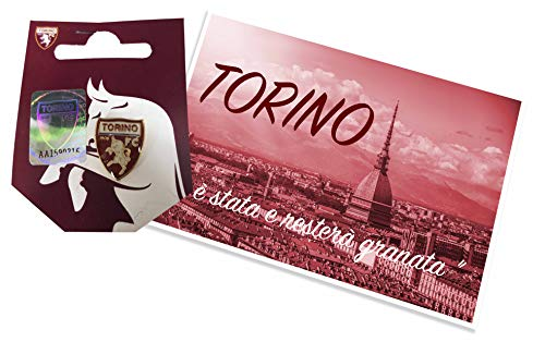 Tex family Distintivo Spilla in Metallo Torino Calcio F.C. e Cartolina Torino È