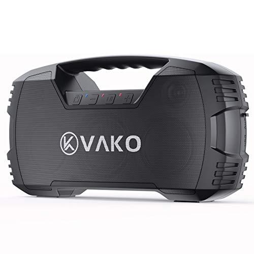 VaKo Handy Altavoz Bluetooth, 40W Altavoz Portátil Inalámbrico para Exteriores, IPX7 Resistente al Agua, Sonido Estéreo, Bajos Profundos, 80 Pies de Alcance Bluetooth, Altavoces para el Aire Libre