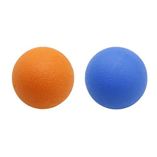 freneci 2 Bola de Masaje de Movilidad Miofascial de Lacrosse de Tejido Profundo para El Músculo Del Cuello Trasero - Naranja Azul
