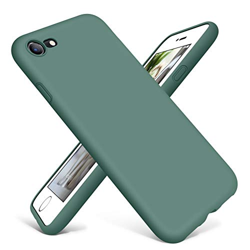 DTTO iPhone SE Case 2020,iPhone 7 8 Silicone Phone Case, [Romance Series] Shockproof Anti-Drop Phone Case with Honeycomb Grid Cushion for Apple iPhone 7/8/SE 2020, 4.7 inch, Midnight Green