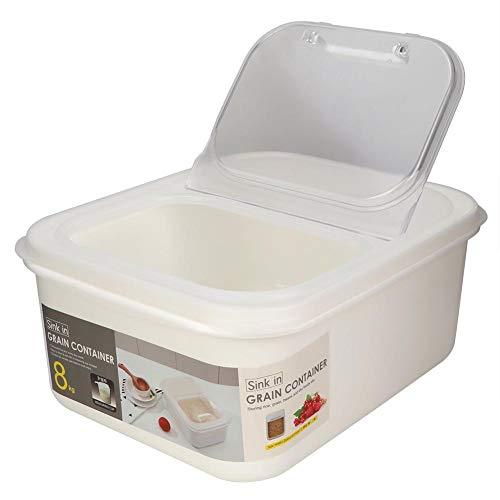 Pssopp Aufbewahrungsbox für Tierfutter Kunststoff Katze Hunde Hundefutter Trockenfutter Tierfutterbehälter Katzenfutter Futtertonne Kunststoff Vorratsbehälter für Heimtierfutter(S)