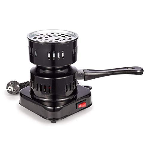 Elektrischer Kohleanzünder/Electric coal lighter: Shisha Kohle Grill mit 600W Heizplatte, Brenner, E-Heater, Kohlebrenner, abziehbarer und multifunktionaler Griff