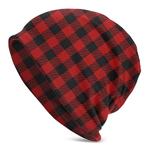 XCNGG Red Lumberjack Slouchy Beanie Hüte Slouch Thin Skull Cap für Frauen Mann