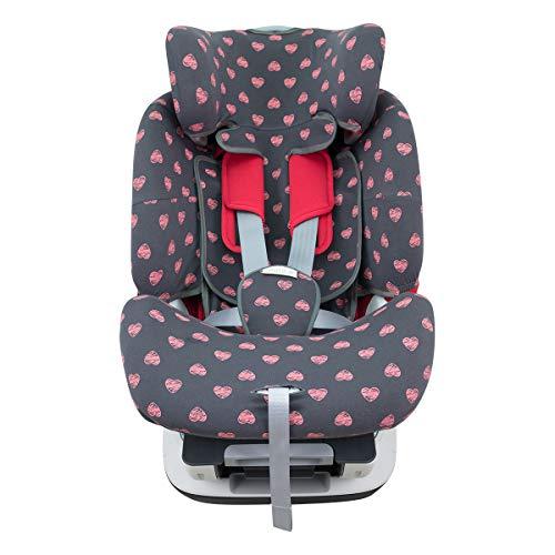 JANABEBE Funda para Chicco Seat Up 0 1 2 y YOUniverse (Fluor Heart)
