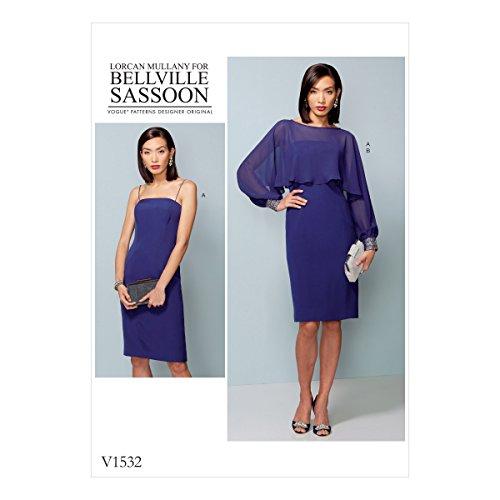 Vogue Patterns Textures Robes et de Couleurs, Multicolore, Tailles 14–22