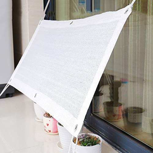 Malla Sombra Protección Solar Invernadero,Toldo Parasol,Tela De Protección De Flores,Vela De Sombra para Plantas De Exterior,Lona A Prueba De Viento,Blanco,4x10m(13 * 33ft)