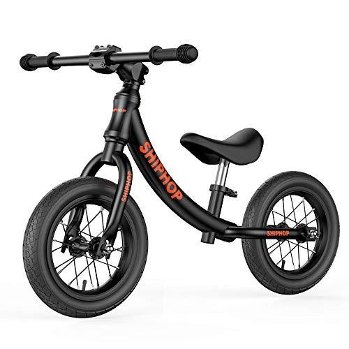XTFFI Loopfiets, geen pedalen, balansfiets, licht 360 graden draaibaar, voor kinderen van 2-6 jaar, zwart