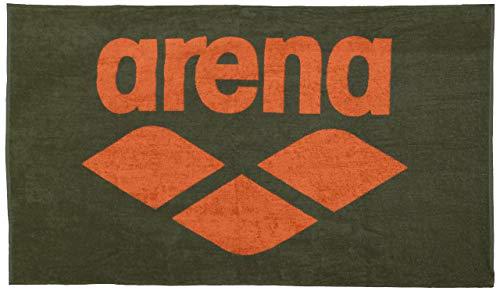 Arena Pool Soft Baumwolltuch Unisex Erwachsene, Unisex, 001993_630_Army-Tangerine, Multicolore (Army/Tangerine), Einheitsgröße