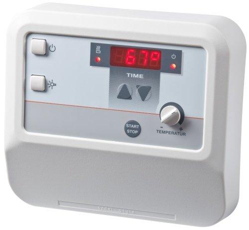 Well Solutions Sauna Steuerung A2 mit Zeitvorwahl + Digitaldisplay bis 9 kW, Nachfolgegerät ...