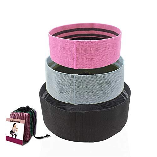 Übungs-Bänder Resistance Band Set (3 Stück), Anti-Rutsch-elastischer Widerstand Band Fitness Squat Resistance-Ring-Entwurf for Hips & Glutes für Dehnübungen