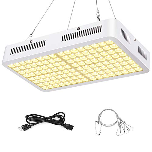 Grow Light, Roleadro 3500k Sunlike Plant Light 1000W Full Spectrum Dual-Chip with ON/Off Switch and Daisy Chain for Indoor Plants for Seedling, Succulents,Growing,Blooming and Fruiting(1000W)