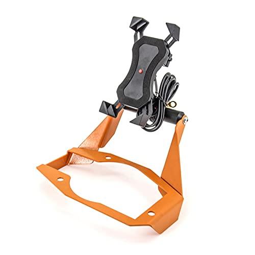 JINJUANYAO Ajuste para 1050 1090 1190 Adventure ADV Motorcycle Soporte Montaje Smartphone GPS Holder Soporte de navegación Clip de teléfono (Color : Orange Bracket A)