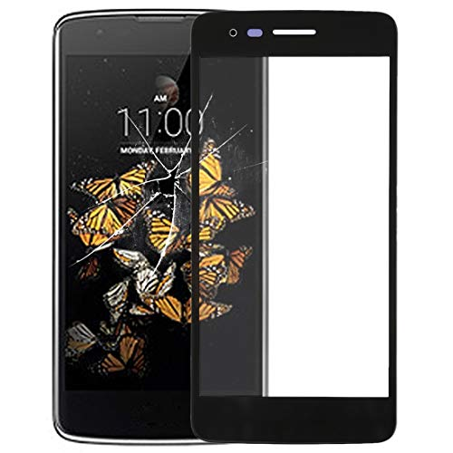 CHEZHAN -Front Screen Outer Glass Lens for LG K8 (2017) Aristo M210 MS210 M200N US215(Black) Super Clear Film (Color : Black)