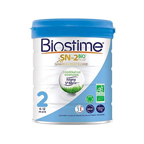 Biostime SN-2 Bio Plus - Lait infantile Bio 2ème âge en poudre de 6 à 12 mois (800g)
