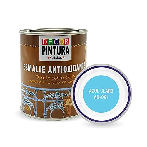 Pintura Azul Claro Antioxidante Exterior para Metal minio Pinturas Esmalte Antioxido para galvanizado, hierro, forja,...