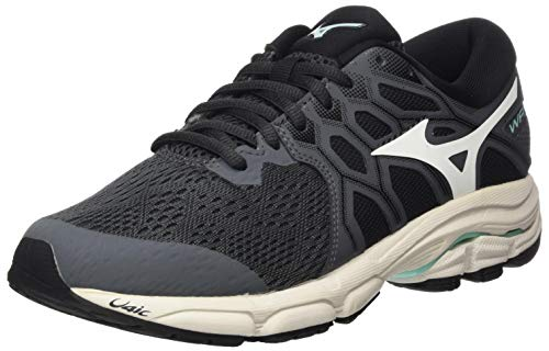 Mizuno Wave EQUATE 4, Chaussure de Course sur Route Femme, Igate/Snow White/Beachgla, 38 EU