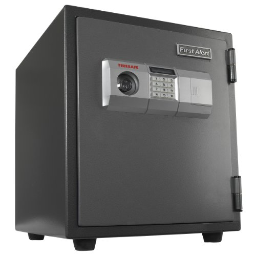 First Alert 2118DF 1 Hour Fire Steel Safe with Digital Lock, 1.9 Cubic Foot, Gray -