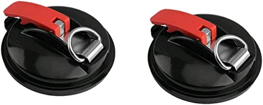 Vacuüm zuignap anker met vaste haak zuignap haak voor zware auto horlogeband geschikt voor auto badkamer, zwart