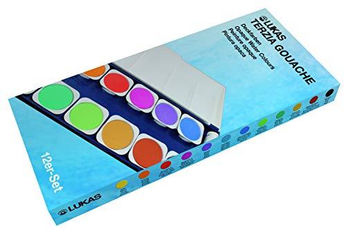 Lukas Aquarell Studio Watercolor Paint Set Nerchau Professional High Pigment Lightfast German Studio Concentrated Watercolor Paint Set � [Opaque Set of 12 Assorted Round Pans]