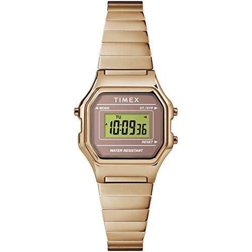 Timex Damen-Armbanduhr, klassische, digitale Mini-Uhr Rose Gold-Tone