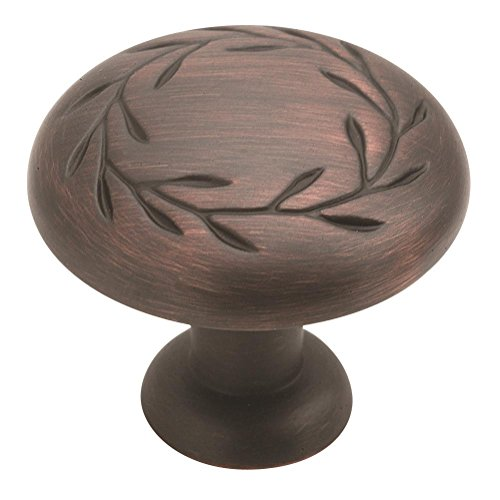 Amerock BP1581ORB Nature's Splendor 1-5/16 in (33 mm) Diameter Oil-Rubbed Bronze Cabinet Knob Amerock Nature Cabinet Knob