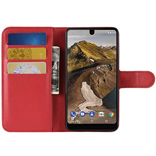 HualuBro Moto G3 Hülle, Leder Brieftasche Etui Lederhülle Tasche Schutzhülle HandyHülle [Standfunktion] Handytasche Flip Hülle Cover für Motorola Moto G 3. Generation, Moto G3 (Rot)