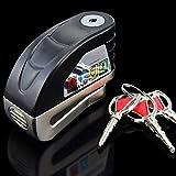 LOCGFF Diebstahlwarn-Scheibenschloss, Diebstahlwarn-Scheibenbremsenschloss, 6 mm Sicherungsstift, 130 dB, für Motorräder Bike Scooter Bonus Carry Pouch
