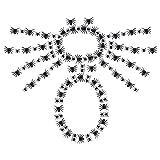 ETIN 50 arañas decorativas de Halloween de 2 cm, pequeños juguetes de arañas falsas de plástico negro, broma divertido y realista
