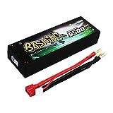 Gens ace Batería Personas 5500mAh 2S 7.4V 50C HardCase RC 10 # Lipo con Conector a T