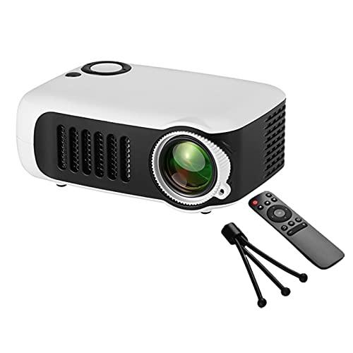 Gaone Mini Proyector, Proyector De Películas Portátiles De Pantalla 100 '' De 1080P Y 100 '' con 50,000 Horas LED Life, Compatible con TV Stick, PS4, HDMI, VGA, A AV Y USB,Gris
