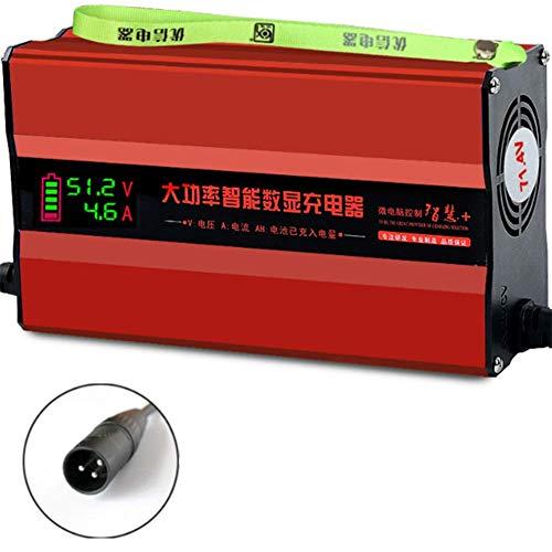 AMAZOM 48/60 / 72V 10 / 12A Cargador de batería Pantalla LED...