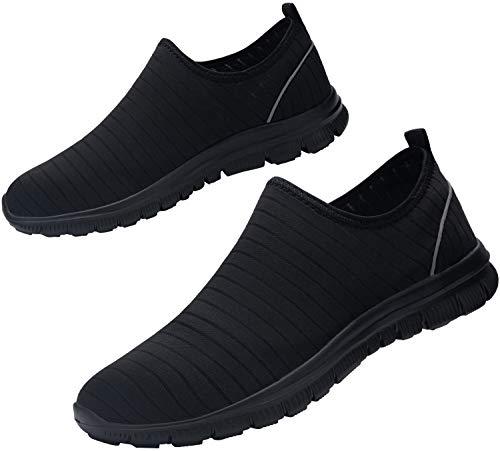 Zapatillas de Seguridad Hombres Impermeable Secado rápido Zapatos de Trabajo con Punta de Acero Ultra Ligeras Reflectante Transpirable