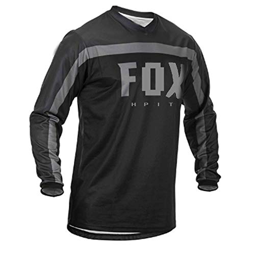 LGGJJYHMY Jerseys de Descenso para Hombre hpit Fox Camisas de Bicicleta de montaña MTB Offroad DH Jersey de Motocicleta Motocross Ropa Deportiva FXR bike-3XL