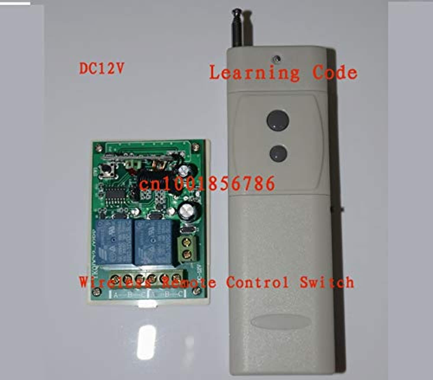 12V 2CH 3000M RF Wireless Remote Control Switch System Receiver & Transmitter Learning Code Toggle Momentary