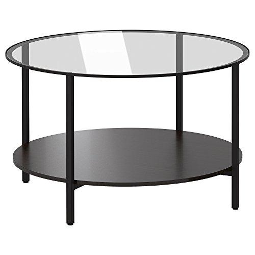VITTSJÖ mesa de centro 45x Ø75 cm negro-marrón/vidrio