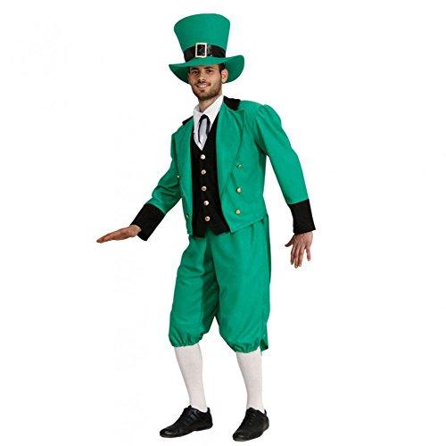 Disfraz de hombre irlandés para Día de San Patricio, talla mediana, color verde