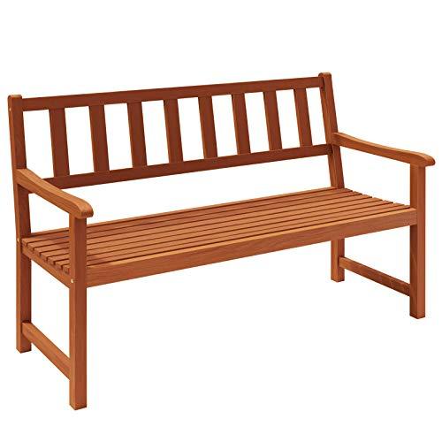 Gartenbank Kensington | Akazien Holz witterungsbeständig | Parkbank Sitzbank Holzbank Balkonbank Bank Garten 2 Sitzer