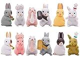 Estatua de Conejito - Miotlsy Mini Figuras de Conejo Estatuas de Animales de jardín Cake...