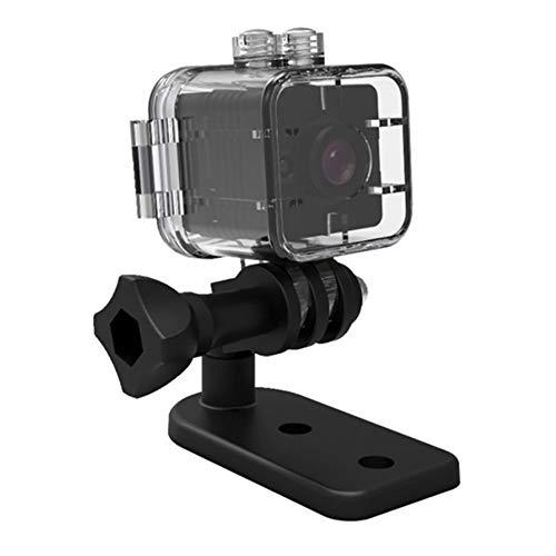 Zwbfu 1080P 12MP MINI Micro cámara Cámara de video Full HD Lente gran angular de 155 ° Visión nocturna Audio Detección de movimiento para bebé Mascota Oficina al aire libre Coche Seguridad en el hogar