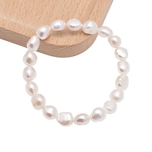 Cultured Freshwater Baroque Pearl Stretch Bracelet, 8-9MM